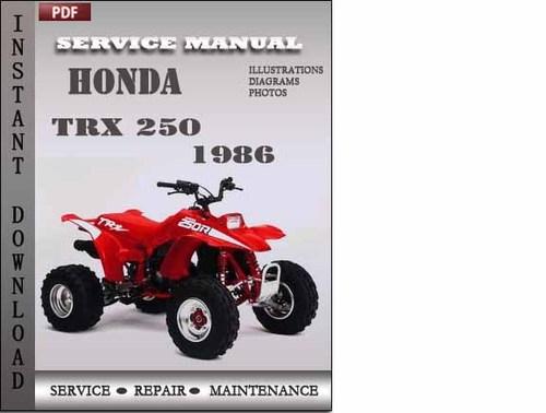 1986 honda trx 250 owners manual