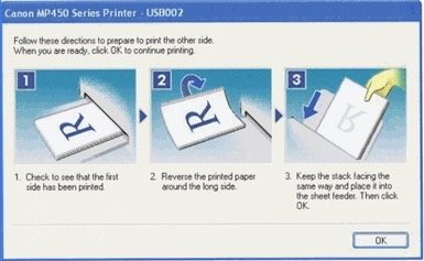 how to print 2 pages 2 sides manually