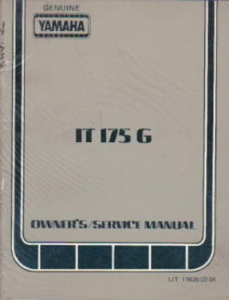 1981 yamaha sr250 owners manual