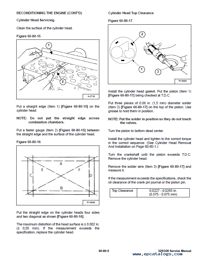 bobcat 325 service manual free