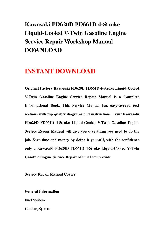 kawasaki 20 hp liquid cooled engine service manual