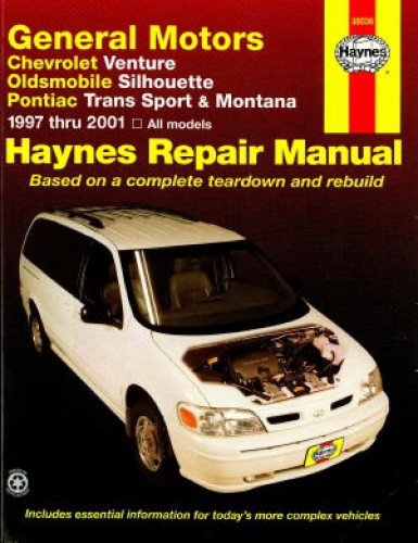 2001 oldsmobile silhouette owners manual
