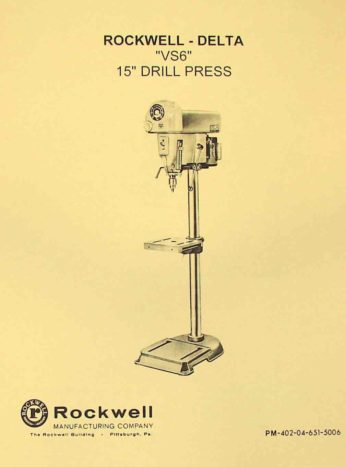 dayton drill press owners manual