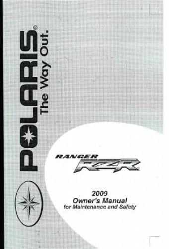 2010 polaris rzr owners manual