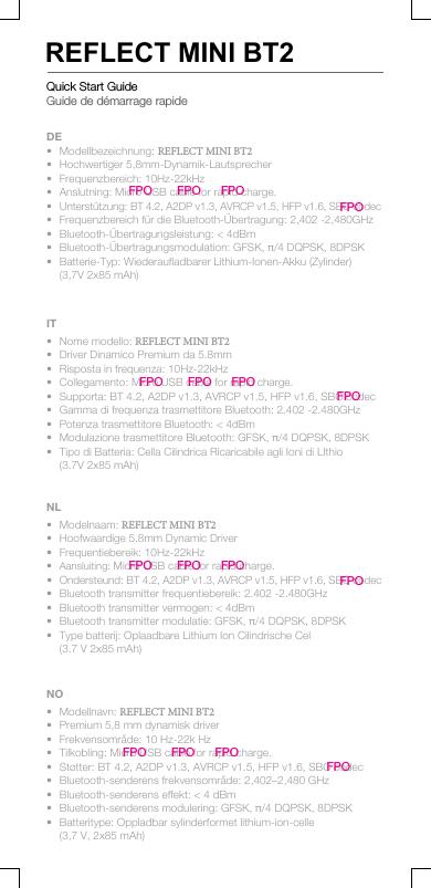 jbl reflect mini bt user manual