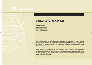 kia ceed 2008 owners manual