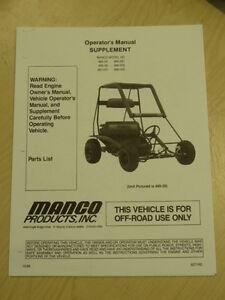 manco fox 2 go kart manual