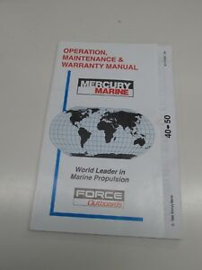mercury marine outboard owners manual