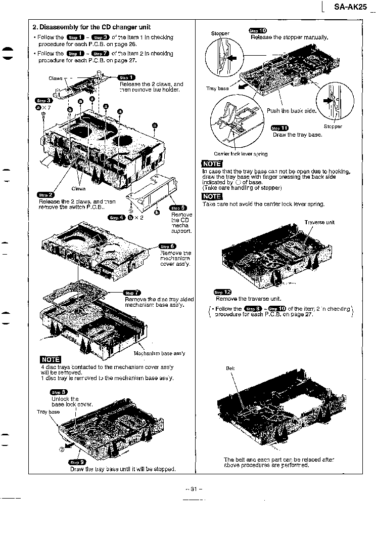 panasonic sa pt760 service manual