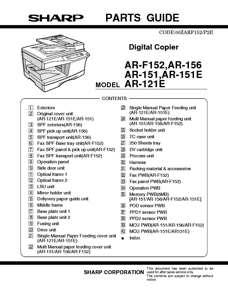 Sharp Ar 5320 Service Manual Pdf